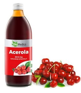 Acerola 100% juice 500 ml -for your skin